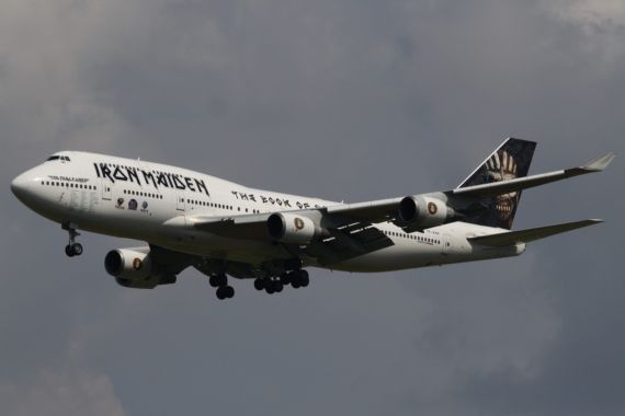 Iron Maiden Boeing 747-400 Ed Force One TF-AAK Foto Kevin Schrenk_001