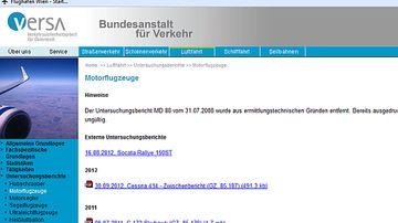 Flugunfalluntersuchungsstelle | Austrian Wings
