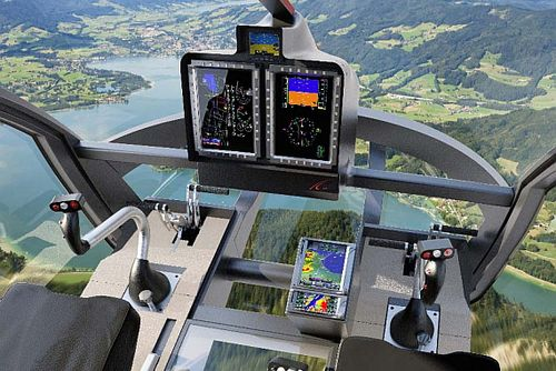 Marenco pr sentiert neuen helikopter made in switzerland for Interieur helicoptere