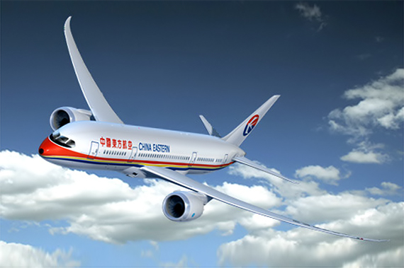China Eastern Boeing 787 - Grafik: Boeing
