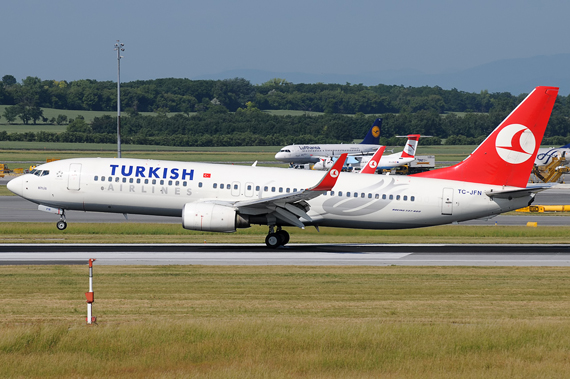 Boeing 737-800 der Turkish Airlines - Foto: Chris Jilli