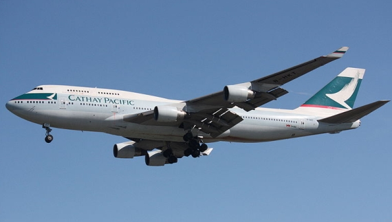 Boeing 747-400 von Cathay Pacific - Foto: Wiki Commons