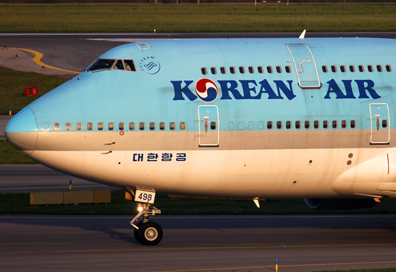 Korean Air Boeing 747-400 in Wien - Foto: Max Hrusa