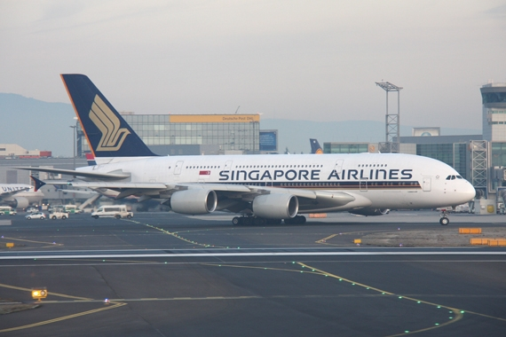 Singapore Airlines A380 in Frankfurt