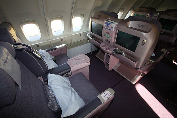 Die Business Class an Bord der China Airlines Boeing 747-400