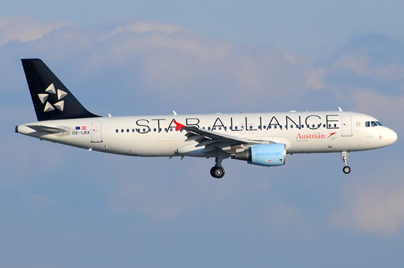 Austrian Airlines (Star Alliance) Airbus A320 (OE-LBX) - Foto: Austrian Wings