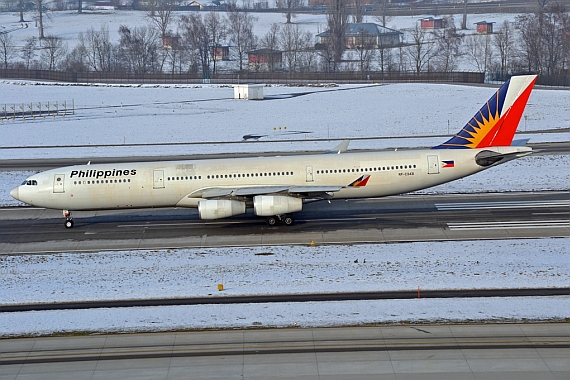 Airbus A340-313X (RP-C3431), Philippine Airlines - Foto: Andreas Schmucki
