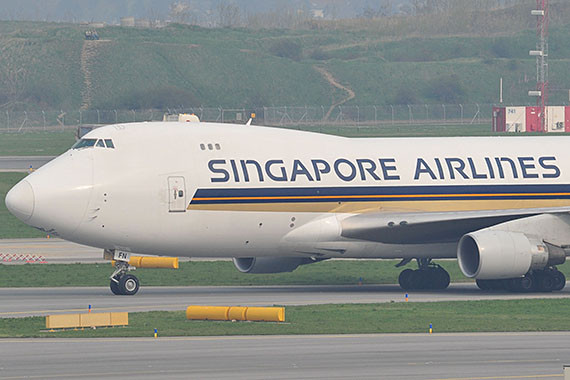 Closeup Singapore Airlines Cargo Boeing 747-400F 9V-SFN - Foto: PA / Austrian Wings Media Crew