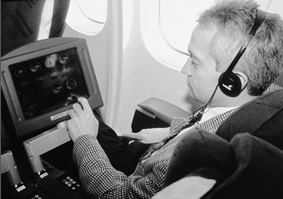 Das Bordunterhaltungssystem IFEN war in der First- und der Business Class der MD-11 eingebaut - Foto: Swissair