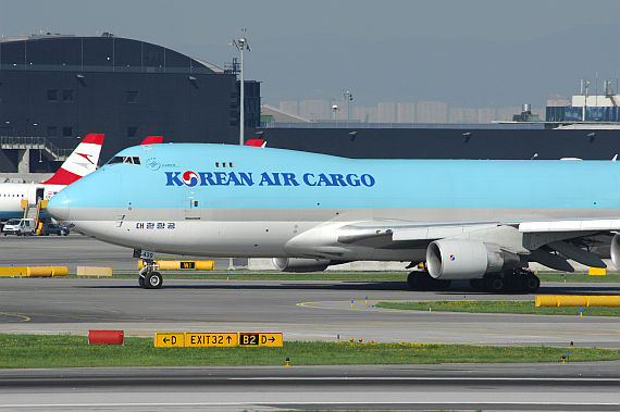 Boeing 747-400F von Korean Air Cargo in Wien - Foto: PA / Austrian Wings Media Crew