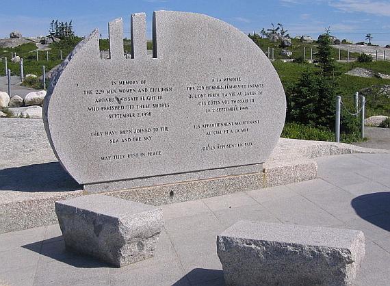 Gedenkstätte für die Opfer des Absturzes von Swissair 111 in Peggy's Cove - Foto: Wiki Commons