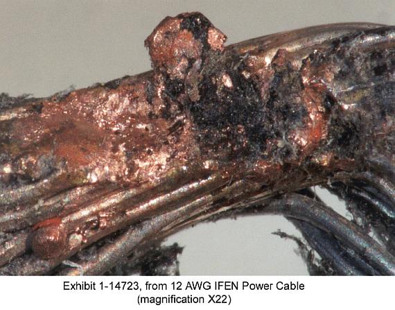 Der Kurzschluss an diesem Kabel löste die Katastrophe von SR 111 aus, sind sich die Ermittler sicher - Foto: TSB