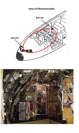 Darstellung des rekonstruierten Rumpfvorderteils der