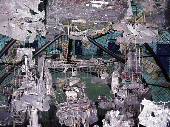 Innenaufnahme des rekonstruierten Cockpits der HB-IWF (Swissair 111) - Foto: Courtesy TSB of Canada