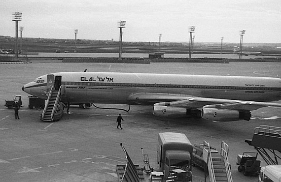 Boeing 707 der El Al 1962 in Paris - Foto: HZ / Wiki Commons