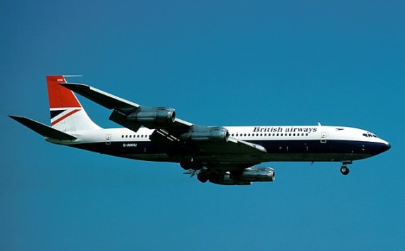 British Airways Boeing 707-300 LHR 1977 Marmet