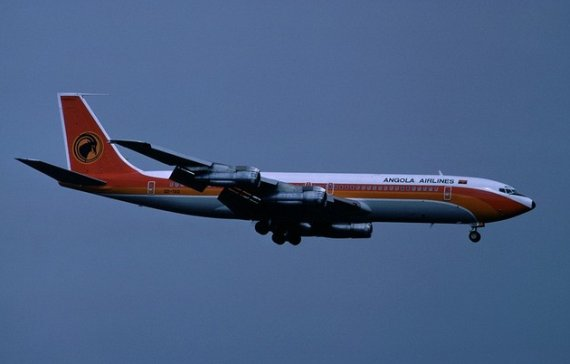 Taag Angola Airlines Boeing 707-300 ZRH 1978 Marmet
