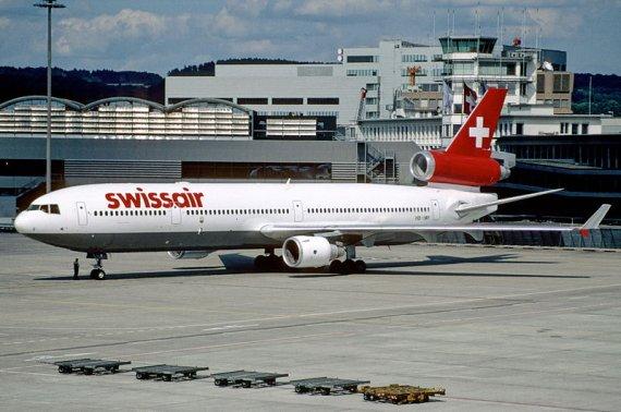 Die HB-IWF, aufgenommen im Juli 1998 auf dem Flughafen Zürich - Foto: Aero Icarus / Wiki Commons