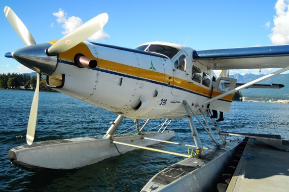 De Havilland Canada DHC -3, Turbine Single Otter von Harbour Air. Bietet Platz bis zu 14 Passagiere. Harbour Air kommt auf stolze 21 Flugzeuge dieser Art, die in Verwendung sind.