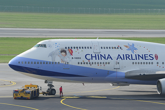China Airlines Boeing 747-400 B-18203 Jimmy Sonderbemalung_7 Foto PA Austrian Wings Media Crew