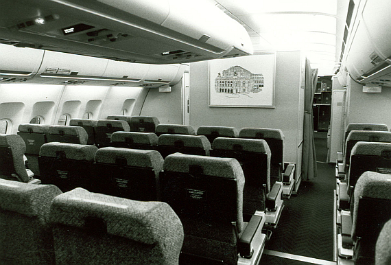 Business Class des AUA A310 - Foto: Austrian Airlines Archiv