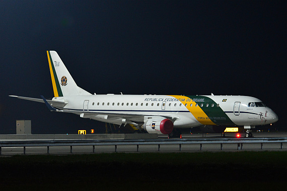 Brasilianische Air Force One Embraer E-190 FAB2591_1 Foto PA Austrian Wings Media Crew
