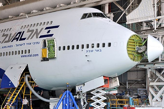Boeing 747-400 in der Wartung - Foto: Courtesy TLV Spotters