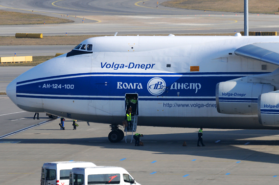 Volga Dnepr Antonov AN-124 in Wien - Foto: Austrian Wings Media Crew