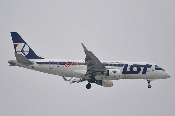 LOT Polish Airlines Embraer E175 SP-LII 600th E-Jet_1 Foto PA Austrian Wings Media Crew