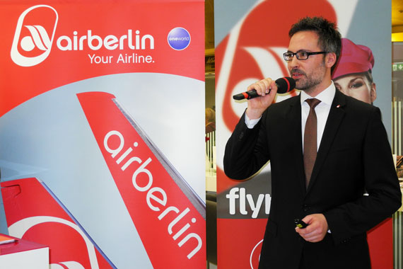 Vice President Corporate Sales Airberlin Stefan Magiera bei Präsentation