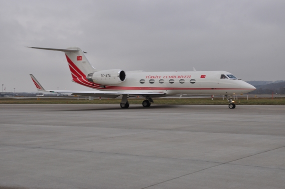 Turkish Government, Gulfstream G-IV, TC-ATA kurz vor dem Start
