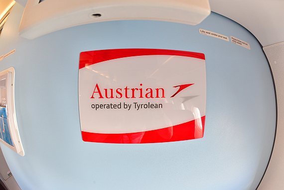 AUA Austrian Airlines operated by tyrolean