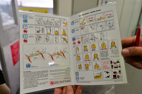 El Al Safety Card 1 Foto PA Austrian Wings Media Crew