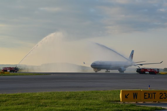 Air China A330 Water Salute Foto PA Austrian Wings Media Crew
