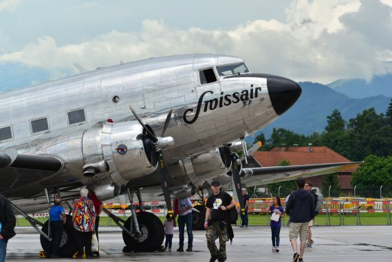 Closeup Swissair DC-3 Foto PA Austrian Wings Media Crew