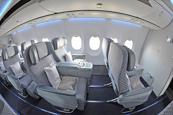 El Al Israel Airlines 4X-EHC Boeing 737-900ER Foto PA Austrian Wings Media Crew_inside_business class fisheye