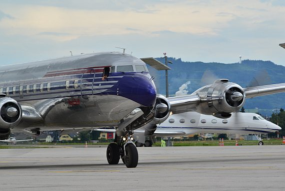 Flying Bulls DC-6 Closeup Foto PA Austrian Wings Media Crew