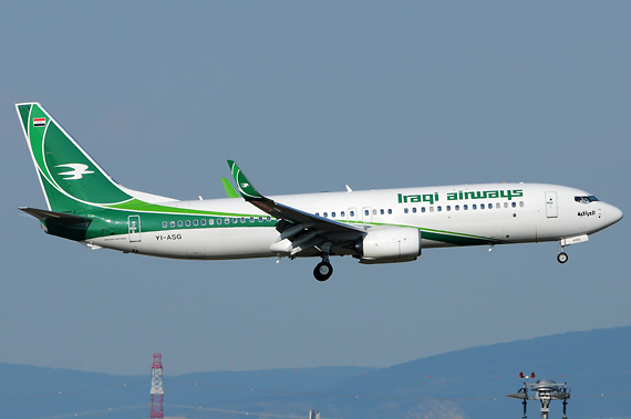 Iraqi Airways Boeing 737-800 - Foto: Austrian Wings Media Crew