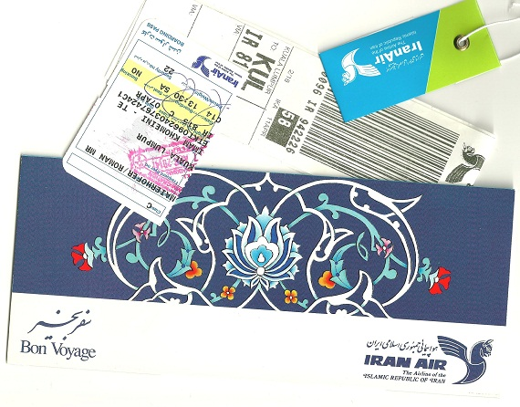 Iran Air Utensilien.