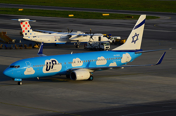 El Al Israel Airlines UP 4X-EKU vormals OE-LNT_3 Foto PA Austrian Wings Media Crew