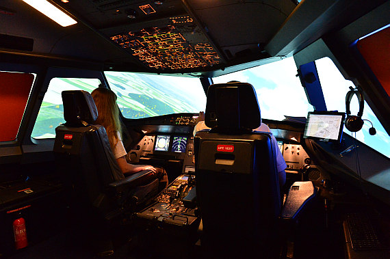 Viennaflight A320 Simulatorcockpit Foto PA Austrian Wings Media Crew