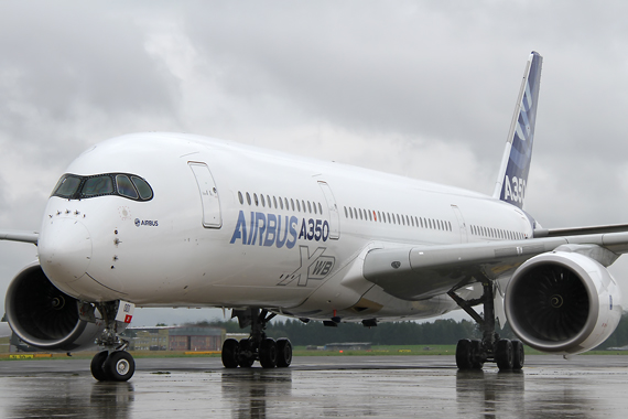 Airbus A350-900 in Linz