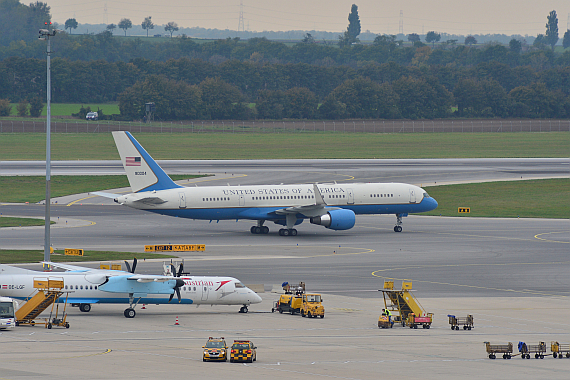 Air Foce II Boeing C-32 mit John Kerry in Wien - Foto: PA/Austrian Wings Media Crew