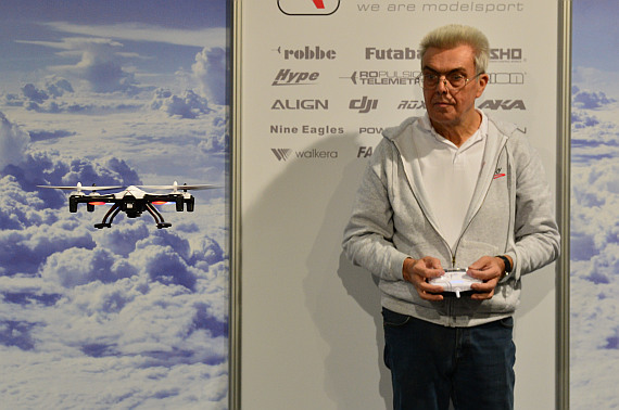 Modellbaumesse 2014 Quadcopter Vorführung Foto PA Austrian Wings Media Crew