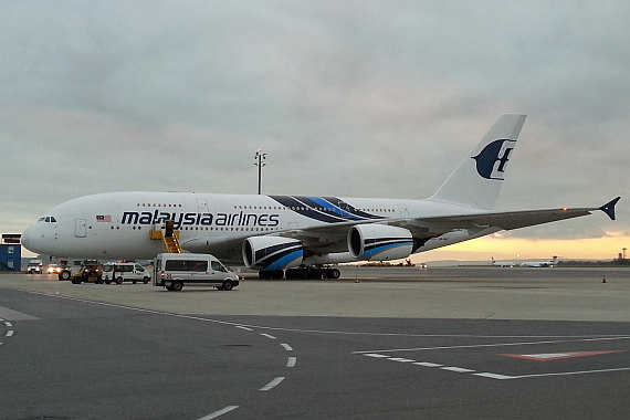 9M-MNC Malaysia Airlines Airbus A380 am 20. November 2014 in Wien Foto PW ZVG