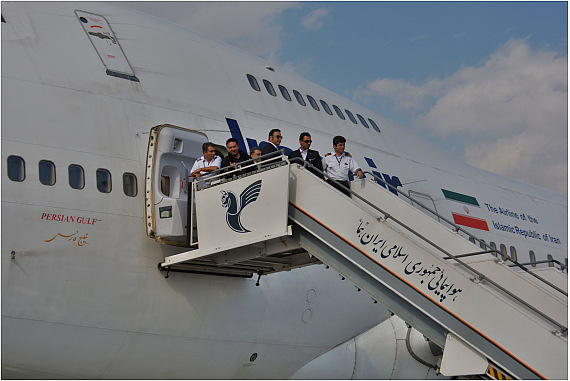 Iran Air Boeing 747SP Letzter Flug Personal Treppe Günther Pitterka