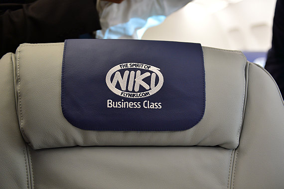 Niki Etihad Abu Dhabi Business Class Event Foto PA Austrian Wings Media Crew Headrest Cover