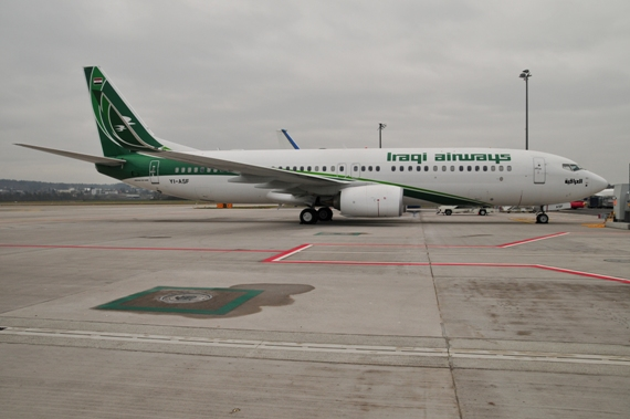 18. Bild, Copyright by Andy Herzog Zürich WEF 2015 Iraqi Airways Boeing 737-800