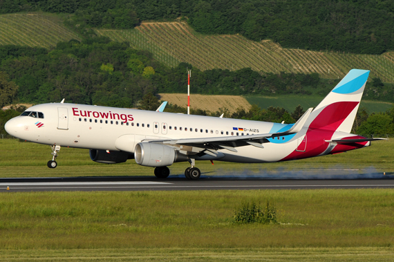 A320 von Eurowings in Wien, Symbolbild - Foto: Austrian Wings Media Crew