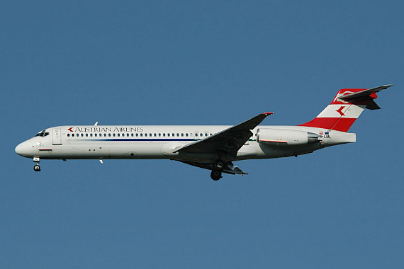 AUA Austrian Airlines OE-LML MD-87 new colors Foto AUA